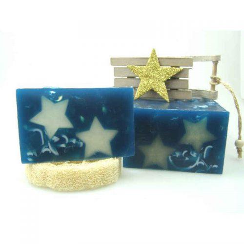 Winterseife Blue Stars